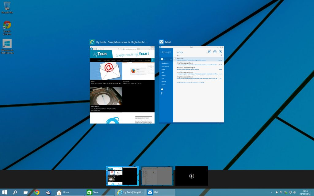 Windows 10 - bureaux virtuels 1
