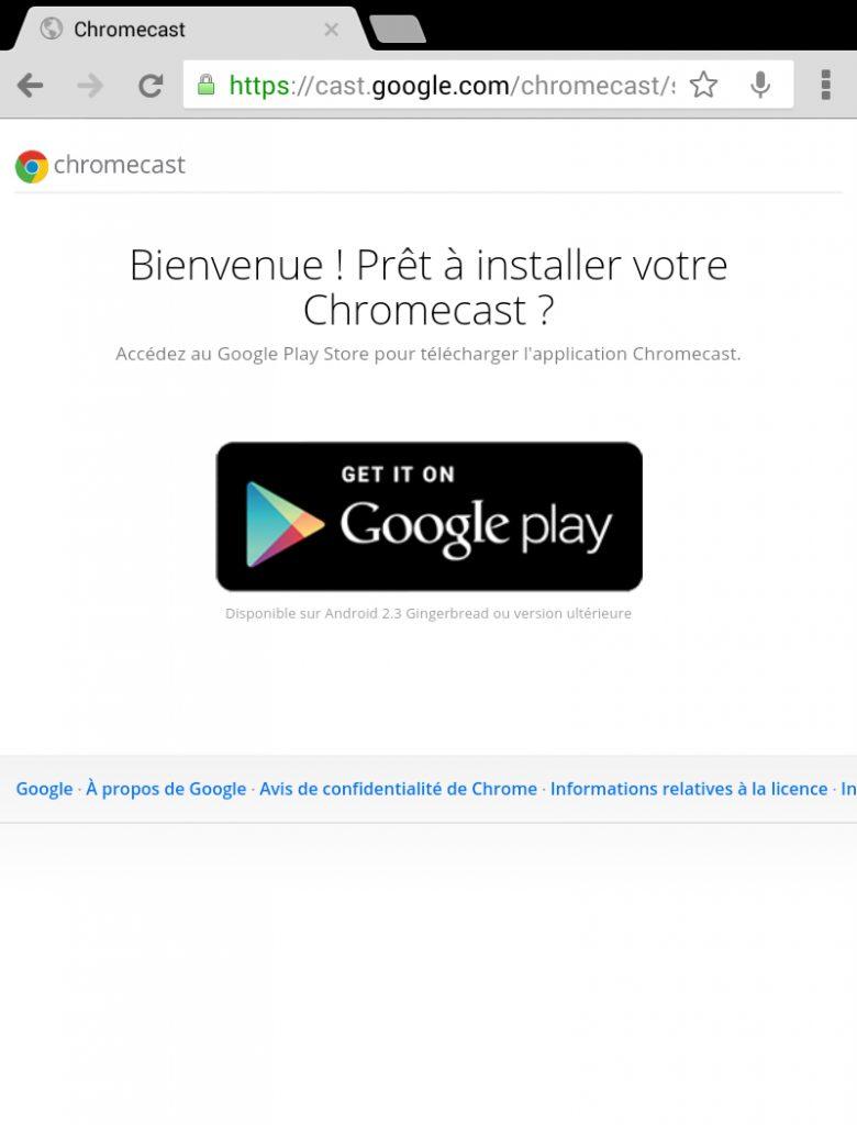 Hy Tech - Chromecast étape 2 côté tablette