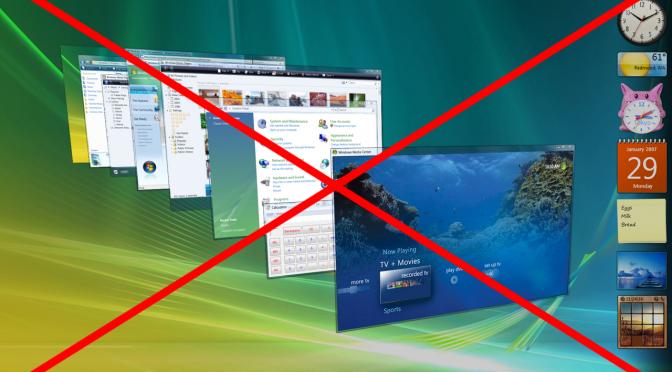 Adieu Windows Vista !