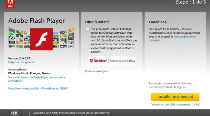 Mise à jour de sécurité pour Adobe Flash Player