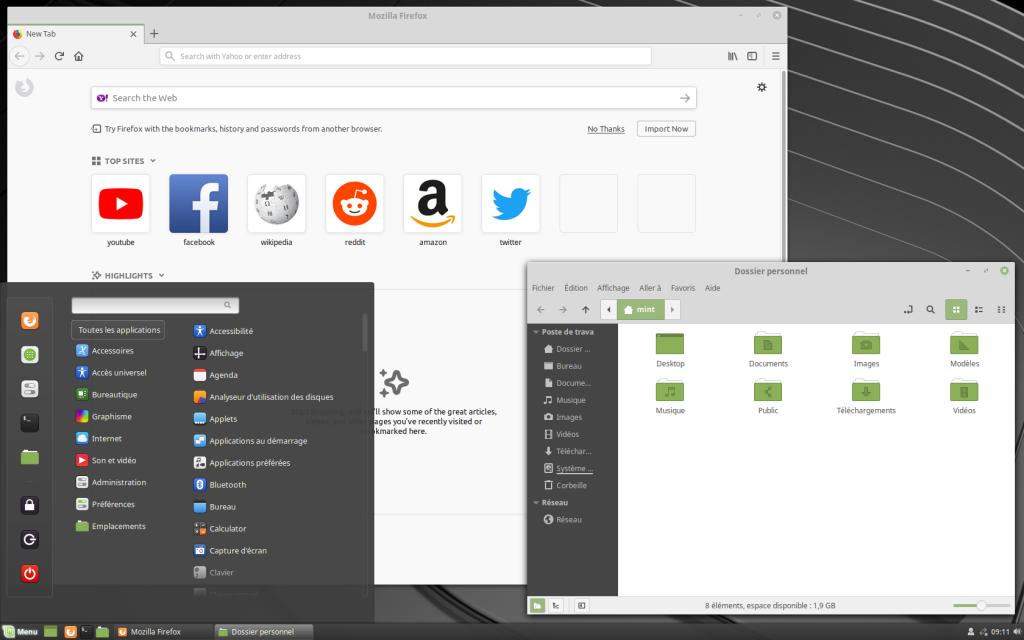 JL informatique # Le blog : Linux Mint Firefox, Explorateur de fichiers & Menu démarrer