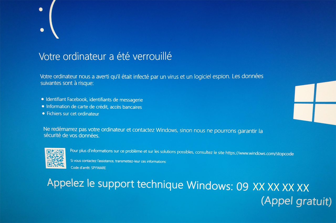 JL informatique #le blog - faux support Microsoft
